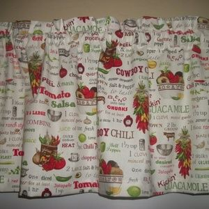 Chef Cook Food Tomato curtain Valance